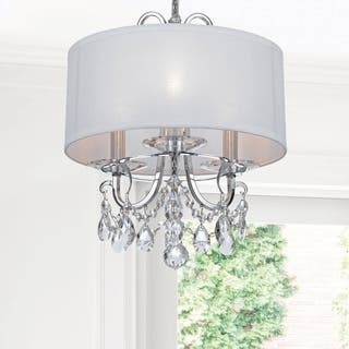 Mini chandeliers for less overstock crystorama othello collection 3 light polished chrome mini chandelier aloadofball Image collections