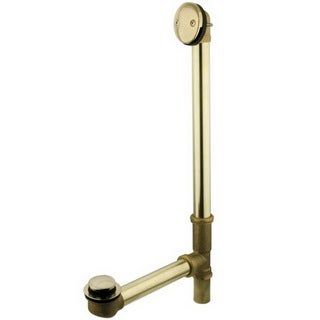 Polished Brass Push Pop Up Tub Drain