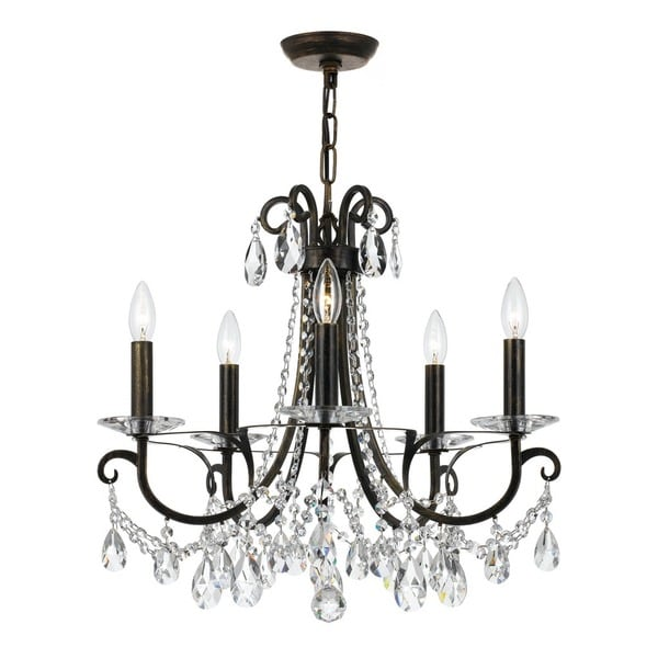 Crystorama Othello Collection 5 Light English Bronze Chandelier Free Shipping Today