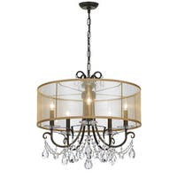 Crystorama Othello Collection 5-light English Bronze Chandelier