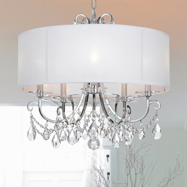 Crystorama Othello Collection 5 Light Polished Chrome Chandelier Free Shipping Today