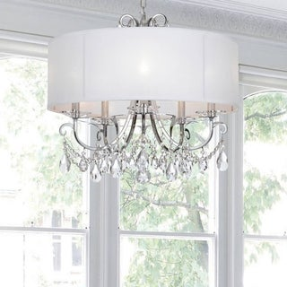 5-light Polished Chrome/Crystal Chandelier - Chrome