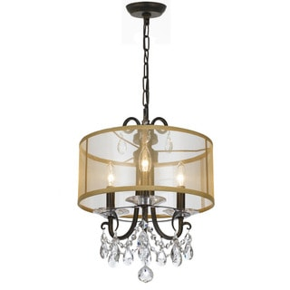 Crystorama Othello Collection 3-light English Bronze Mini Chandelier