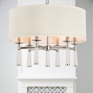 Crystorama Baxter Collection 6-light Polished Nickel Chandelier