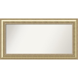 Wall Mirror Choose Your Custom Size - X-Lg, Astoria Champagne Wood