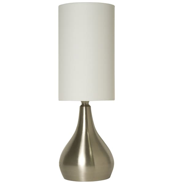 Shop Light Accents Silver Aluminum 18 Inch Modern Table Lamp With 3