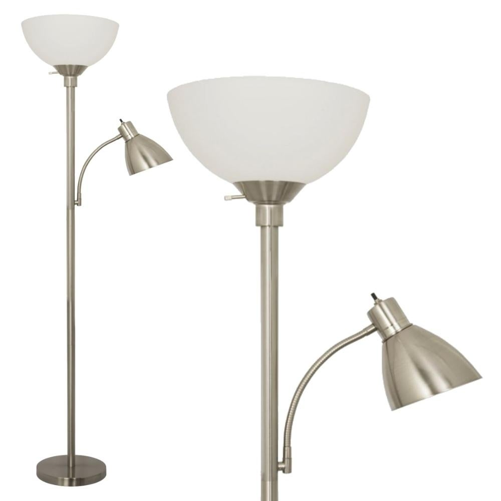 Brushed Nickel Floor Lamp With Side Reading Light N A