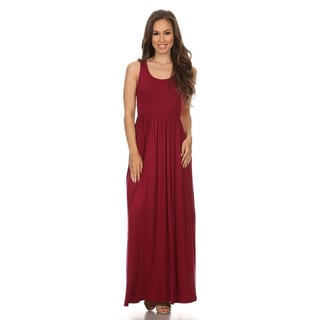 MOA Collection Women's Sleeveless Solid Dress