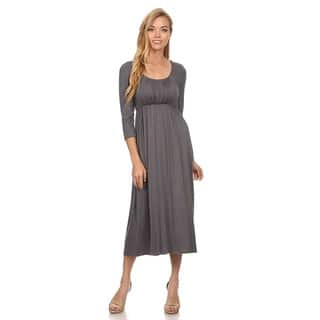 MOA Collection Women's Rayon/Spandex Solid Relaxed Dress https://ak1.ostkcdn.com/images/products/12135357/P18992207.jpg?impolicy=medium