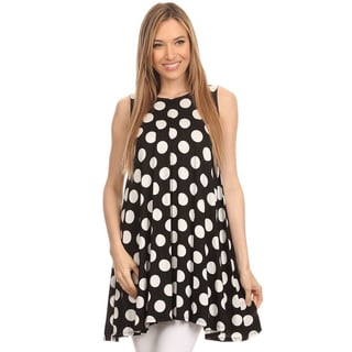 MOA Collection Women's Polka Dot Tank Top