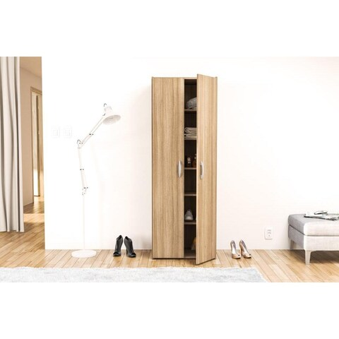 Boahaus Brown Wardrobe/Storage Cabinet 2 doors for Bedroom Free Shipping
