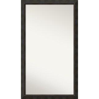 Wall Mirror Choose Your Custom Size - Oversize, Signore Bronze Wood - Espresso