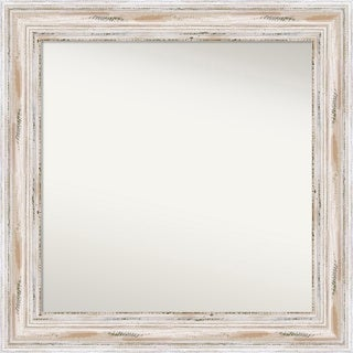 Wall Mirror Choose Your Custom Size - Medium, Alexandria White wash Wood