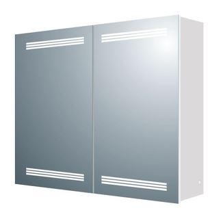 MTD Vanities Aria MV07 Aluminum 26-inch x 24.8-inch LED Mirror Medicine Cabinet