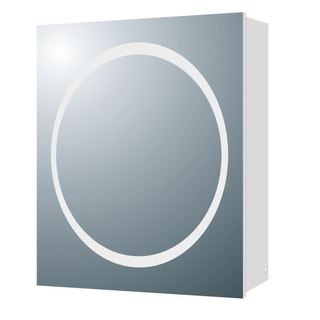 Aria MV04 19.7-inch x 24.8-inch LED Halo Illuminated Medicine Cabinet