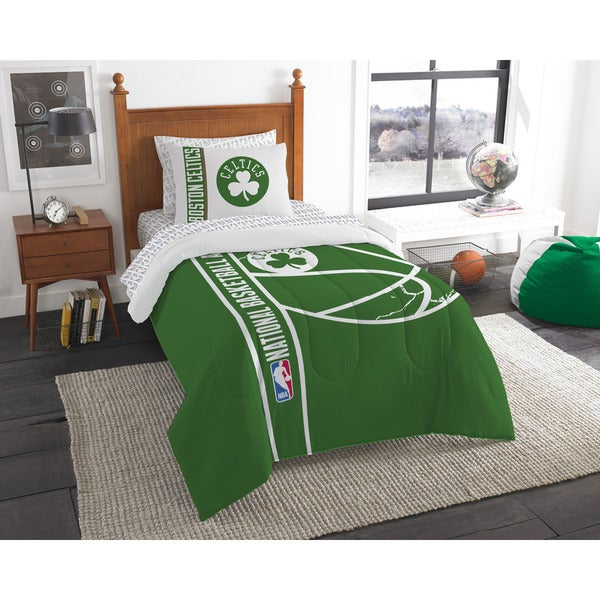 The Northwest Company NBA Boston Celtics Twin 5-piece Bed in a Bag with Sheet Set