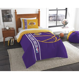 The Northwest Company NBA Los Angeles Lakers Twin 5-piece Bed in a Bag with Sheet Set
