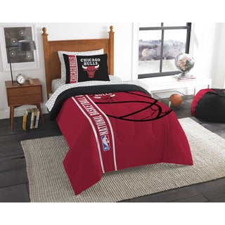 NBA 845 Bulls Twin 5-piece Bed in a Bag with Sheet Set