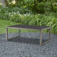 Monaco Outdoor Glass-top Coffee Table by Real Flame