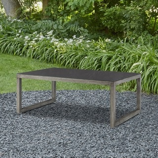 Link to Monaco Outdoor Glass-top Coffee Table by Real Flame - 47.25L x 27.5W x 18H Similar Items in Outdoor Sofas, Chairs & Sectionals
