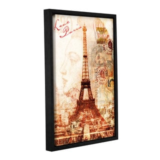 Roozbeh Bahramali's 'Love Paris' Gallery Wrapped Floater-framed Canvas
