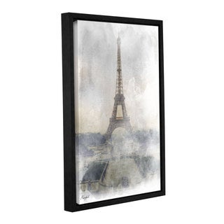 Roozbeh Bahramali's 'Eiffel Tower In Fog' Gallery Wrapped Floater-framed Canvas