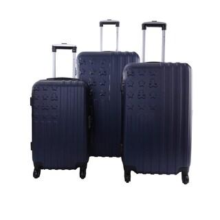 Lulu Castagnette Navy 3-piece Hardside Spinner Luggage Set