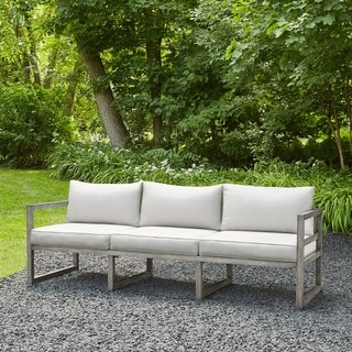 Real Flame Monaco 87.75 in. L x 29 in. D x 25.75 in. H Outdoor 3-seat Sofa