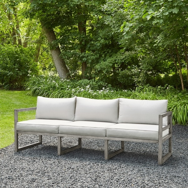 shop monaco outdoor 3 seat sofa by real flame free shipping today 12135529. Black Bedroom Furniture Sets. Home Design Ideas