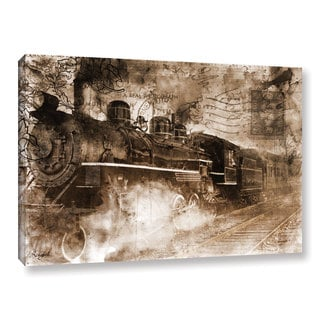 Roozbeh Bahramali's 'Train Approaching' Gallery Wrapped Canvas