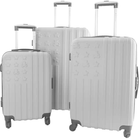 Lulu Castagnette Silver 3-piece Hardside Spinner Luggage Set
