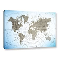 Roozbeh Bahramali's 'World Map Exploration' Gallery Wrapped Canvas