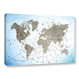 roozbeh bahramalis world map exploration gallery wrapped canvas