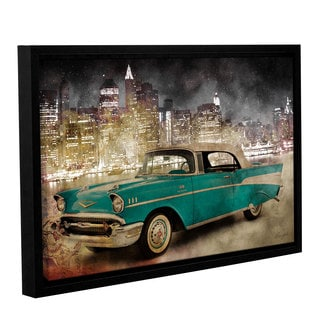 Roozbeh Bahramali's 'Ny Drive I' Gallery Wrapped Floater-framed Canvas