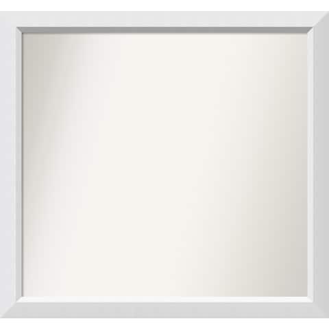 Wall Mirror Choose Your Custom Size - Medium, Blanco White Wood