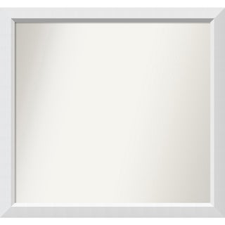 Wall Mirror Choose Your Custom Size - Medium, Blanco White Wood