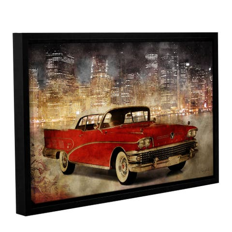 Roozbeh Bahramali's 'NY Drive II' Gallery Wrapped Floater-framed Canvas