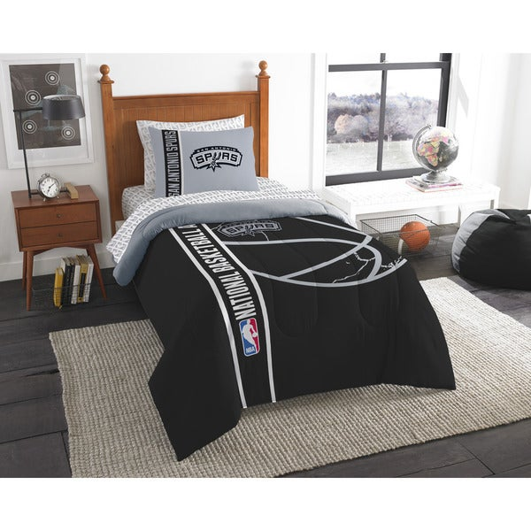 The Northwest Company NBA San Antonio Spurs Twin 5-piece Bed in a Bag with Sheet Set