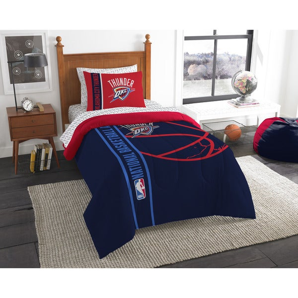 The Northwest Company NBA Oklahoma City Thunder Twin 5-piece Bed in a Bag with Sheet Set