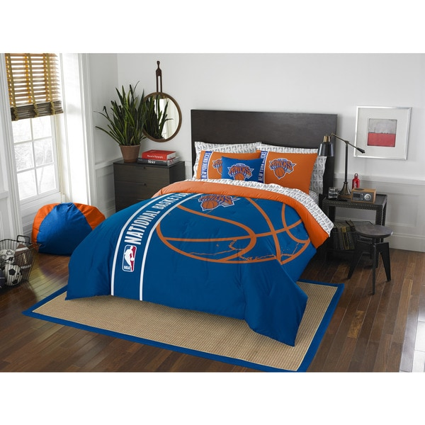 The Northwest Company NBA New York Knicks Full 7-piece Bed in a Bag with Sheet Set
