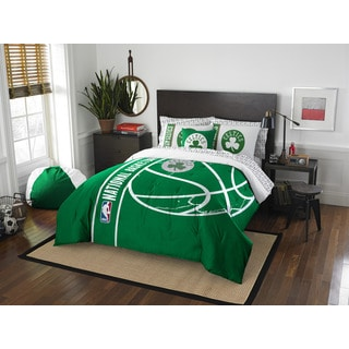 NBA 846 Celtics Full 7-piece Bed in a Bag with Sheet Set