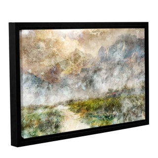 Roozbeh Bahramali's 'Mountain Path' Gallery Wrapped Floater-framed Canvas