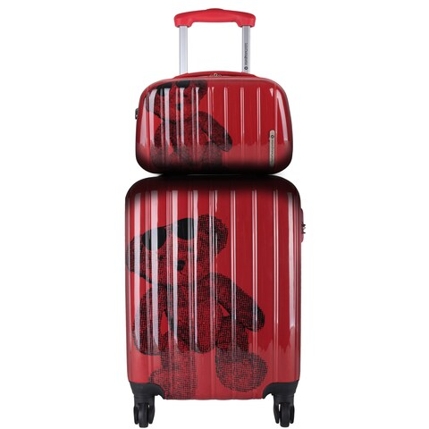 Lulu Castagnette Red 2-piece Hardside Carry-on Spinner Lugguage Set