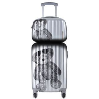 Lulu Castagnette 2-piece Silver Hardside Carry-on Spinner Lugguage Set
