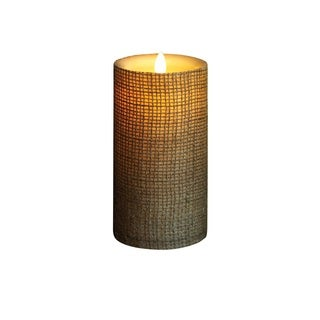 Torchier Off-white Wax Flameless Pillar Candle