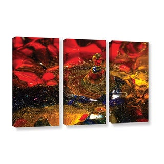 Connie Publicover's 'Vibrant Love' 3-piece Gallery Wrapped Canvas Set