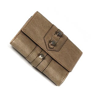 Charriol Olympia Brown Leather Calfskin Wallet