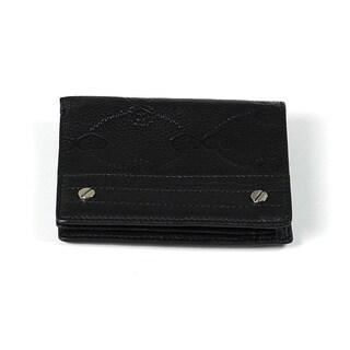 Charriol Escapade VI Black Stamped Wallet