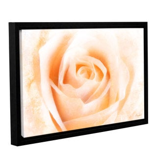 Roozbeh Bahramali's 'Orange Rose' Gallery Wrapped Floater-framed Canvas
