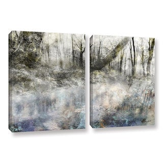 Roozbeh Bahramali's 'Forest Calling' 2-piece Gallery Wrapped Canvas Set